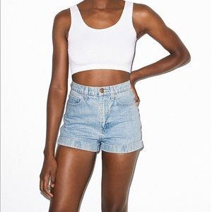 American apparel jean shorts high waist